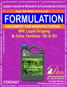 NPK Liquid Dripping & Foliar Fertilizer (15-5-15) ( (FOR 2497)