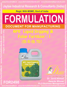 NPK Liquid Dripping & Foliar Fertilizer I (15-5-15 TE) FOR 2498