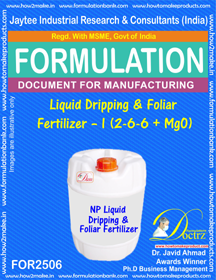 NPK-Liquid-Dripping foliar Fertilizer Formula (FOR 2506)