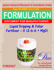 NPK-Liquid-Dripping foliar Fertilizer Formula II(FOR 2507)