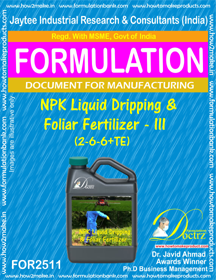 NPK Liquid Dripping & Foliar Fertilizer (2-6-6 + AminoAcids)