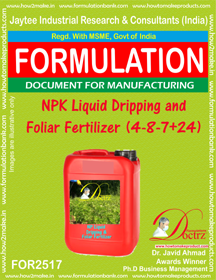 NPK Liquid Dripping and Foliar Fertilizer (4-8-7+ 24) FOR 2517