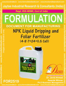 NPK Liquid Dripping and Foliar Fertilizer (4-8-7+ 24 +0.5 CaO)