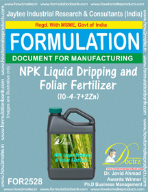 NPK Liquid Dripping and Foliar Fertilizer (10-4-7+2Zn) FOR 2528