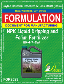 NPK Liquid Dripping and Foliar Fertilizer (10-4-7+Mn) FOR 2529
