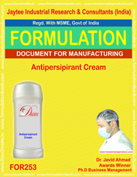 Formulation for making anti persipirant cream making