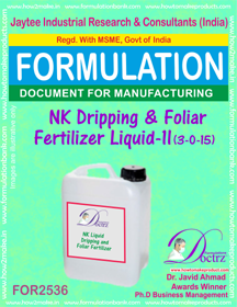 NK Dripping and Foliar Fertilizer Liquid-II (3-0-15)FOR 2536