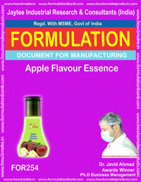 Formulation for making apple flavor essence