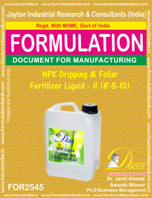 NPK Dripping and Foliar Fertilizer Liquid-II (8-5-10)FOR 2545