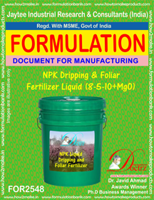 NPK Dripping and Foliar Fertilizer Liquid (8-5-10 + MgO)FOR 2548