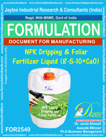 NPK Dripping and Foliar Fertilizer Liquid ( 8 -5-10 + CaO)