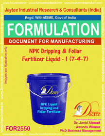 NPK Dripping and Foliar Fertilizer Liquid -I (7-4-7) FOR 2550
