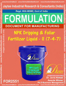 NPK Dripping and Foliar Fertilizer Liquid -II (7-4-7) FOR 2551