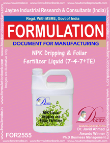 NPK Dripping and Foliar Fertilizer Liquid (7-4-7+TE)) FOR 2555