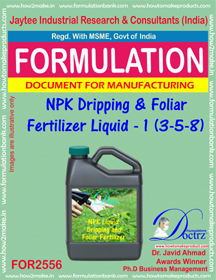 NPK Dripping and Foliar Fertilizer Liquid-I (3-5-8)FOR 2556