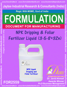 NPK Dripping and Foliar Fertilizer Liquid (3-5-8 +3Zn)FOR 2559