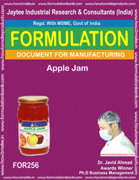 Formulation recipe for Apple jam making