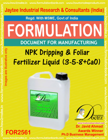 NPK Dripping and Foliar Fertilizer Liquid ( 3-5-8 + CaO)
