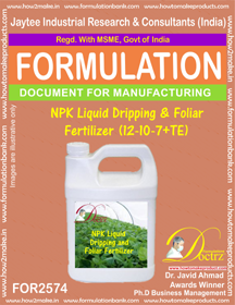 NPK Liquid Dripping and Foliar Fertilizer (12-0-7+TE) FOR2574
