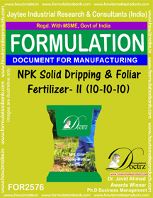 NPK Solid Dripping and Foliar Fertilizer-II (10-10-10)FOR2576