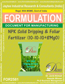 NPK Solid Dripping & Foliar Fertilizer(10-10-10 +8MgO) FOR2581
