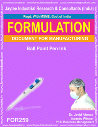 Ball point pen ink making (formula 259)