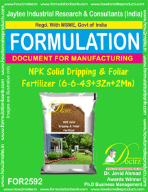 NPK Solid Dripping & Foliar Fertilizer (6-6-43+3Zn+2Mn) FOR 2592