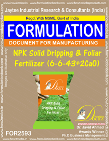 NPK Solid Dripping & Foliar Fertilizer (6-6-43 + 2CaO) FOR2593