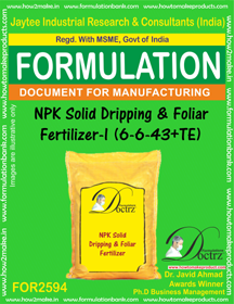 NPK Solid Dripping & Foliar Fertilizer-I (6-6-43+TE) FOR2594