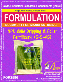 NPK Solid Dripping & Foliar Fertilizer-I (5-5-45) FOR2596