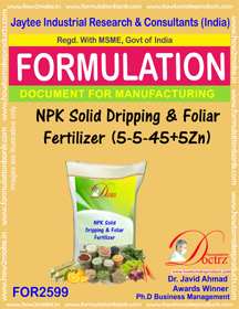 NPK Solid Dripping & Foliar Fertilizer (5-5 -45+5Zn) FOR2599
