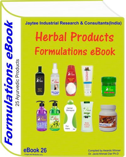 Herbal Products Manufacturing Formulations eBook(eBook26)