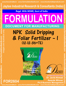 NPK Solid Dripping and Foliar Fertilizer-I(12 – 12 – 36+TE) 2604
