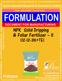 NPK Solid Dripping and Foliar Fertilizer-II(12 – 12 – 36+TE)2605