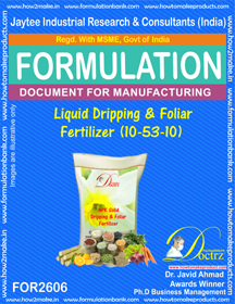 liquid Dripping and Foliage Fertilizer (10 – 53 – 10)FOR 2606