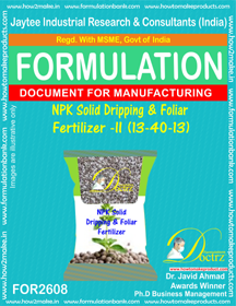 NPK Solid Dripping and Foliar Fertilizer-II(13 – 40 – 13)FOR2608