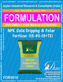 NPK solid Dripping and Foliar Fertilizer-I(13–40-13+TE)FOR2610