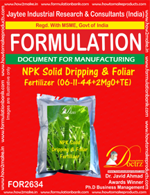 NPK solid Dripping & Foliage Fertilizer(6-11-44+2MgO+TE) 2634