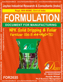 NPK solid Dripping & Foliage Fertilizer(6-11-44+MgO+TE) FOR2635