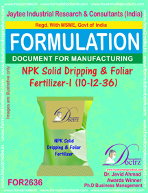 NPK solid Dripping & Foliage Fertilizer (1-12-36) FOR 2636