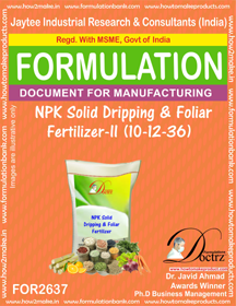 NPK solid Dripping & Foliage Fertilizer II (1-12-36) FOR 2637