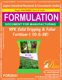 NPK solid Dripping & Foliage Fertilizer 10-5-38( FOR 2641)