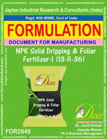 NPK solid Dripping & Foliage Fertilizer(13-11-36)FOR 26468