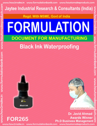 Black waterproofing ink