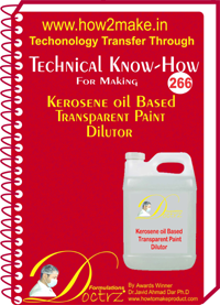 Technical Know-How Report for kerosene oil b (TNHR266)