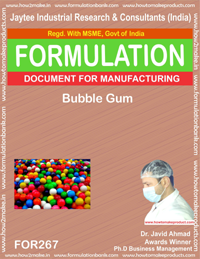 Bubble gum making(formula 267)
