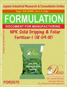 NPK solid Dripping & Foliage Fertilizer I(18-9-18) FOR2670