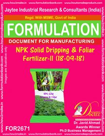 NPK solid Dripping & Foliage Fertilizer II(18-9-18) FOR2671