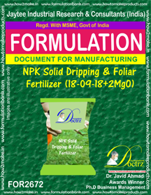 NPK solid Dripping & Foliage Fertilizer II(18-9-18+MgO) FOR2672