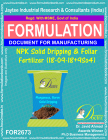 NPK solid Dripping & Foliage Fertilizer(18-9-18+MgO+9SO4)